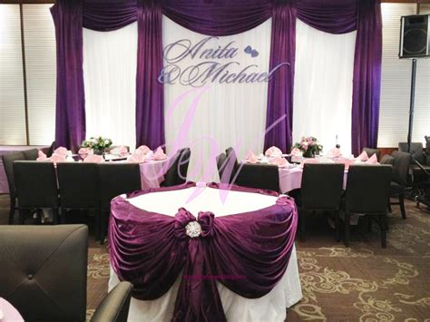 purple and white decorations purple decoration for weddings joyce wedding services