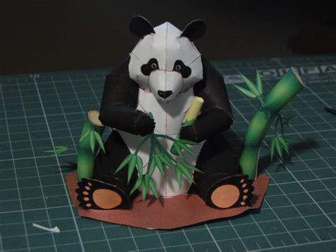 paper craft panda panda papercraft by bslirabsl on deviantart