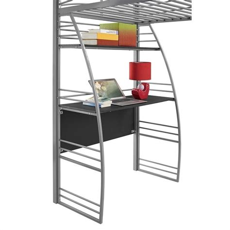 bookcase bunk beds loft bunk bed desk and bookcase in gray 4016427