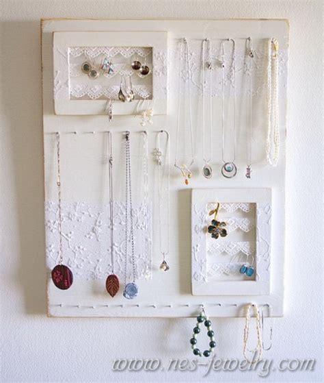 how to make jewelry holder 11 diy shabby chic jewelry holders and hangers