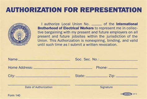 Authorization Letter Sample For Electric Bill ibew 529