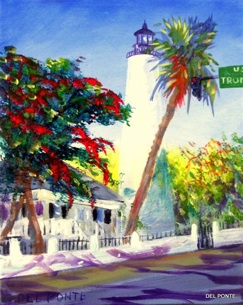 key west painting ponte style time professional artist