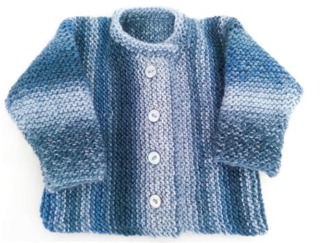 Knitting Pattern Garter Stitch Baby Cardigan One