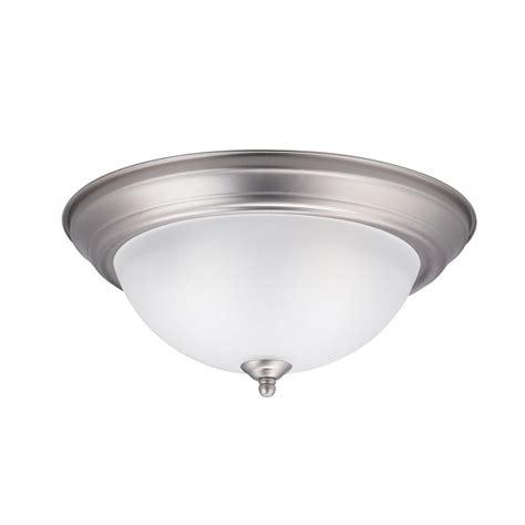 brushed nickel ceiling lights shop kichler lighting 13 25 in w brushed nickel ceiling