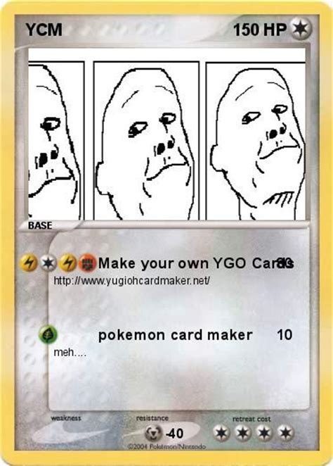 make your own pokémon card pok 233 mon ycm make your own ygo cards my card