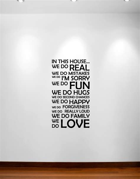 in this house wall sticker in this house we do wall decal sticker quote 1126