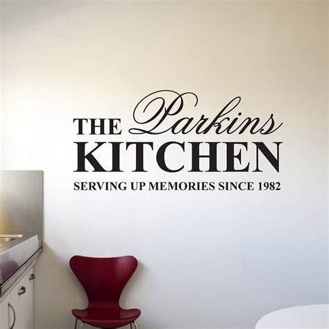 stickers for kitchen walls personalised kitchen wall stickers by parkins interiors