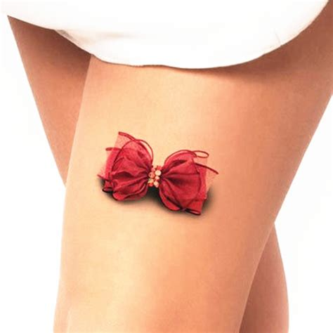 bowknot 3d temporary tattoo body art flash tattoo