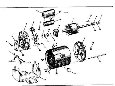 Electric Motor Breakdown by Baldor Motor Parts Diagram Wiring Diagram