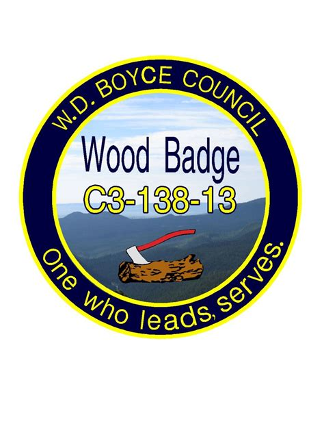 wood badge from gilwell a unique experience