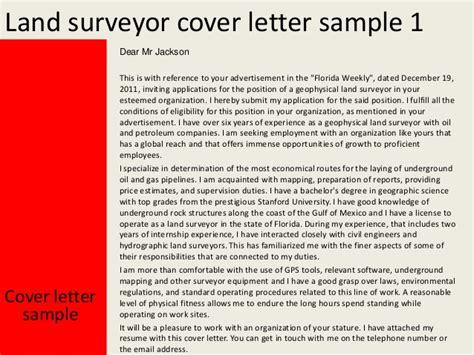 land surveyor cover letter