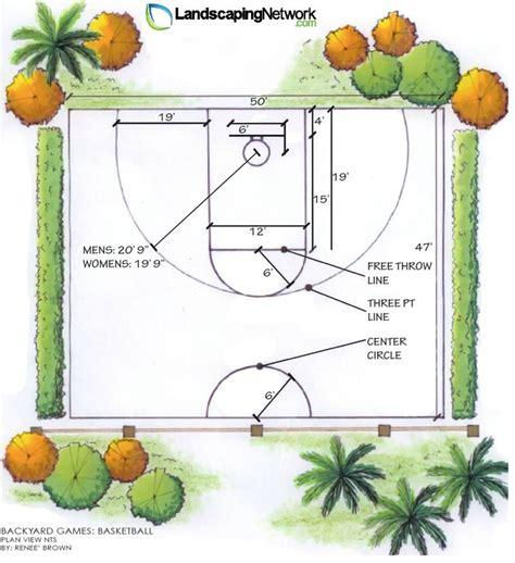 basketball half court dimensions backyard basketball backyard landscaping network