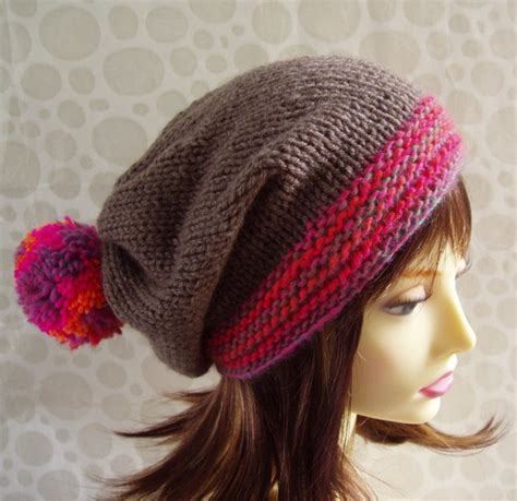 slouchy beanie knitting pattern for beginners knitting pattern marta womans slouchy knit hat with