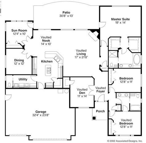 ranch home floor plans open ranch style floor plans ranch style house plans