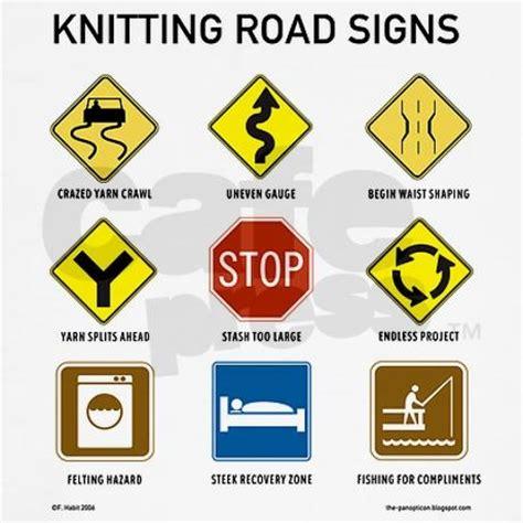 knitting signs knitting road signs shirt on