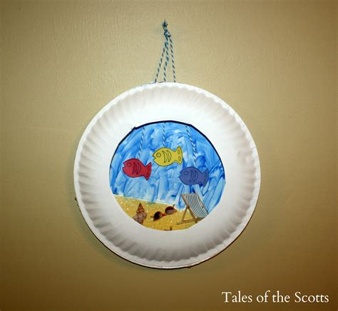 craft paper plate paper plate aquarium family crafts
