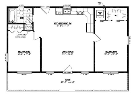 28 x 40 house plans certified homes lincoln style certified home plans