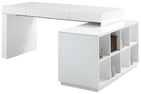white desk with bookshelf s005 modern office desk with built in bookshelf white
