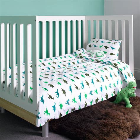 dinosaur cot bed duvet set by lulu and nat