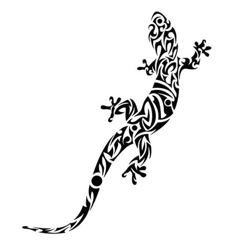 cool tribal lizard tattoo design