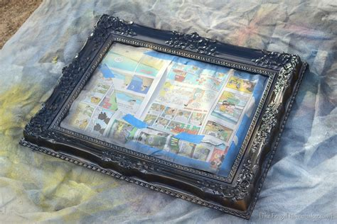 spray painting mirror frame spray painted gold yard sale mirror how to spray paint a
