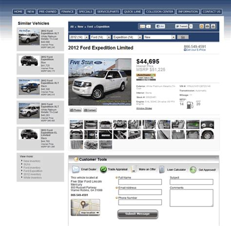 Five Ford Warner Robins Ga by 2012 Ford Expedition Real Dealer Prices Free