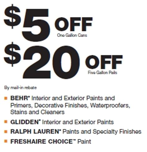home depot paint rebate home depot paint rebate this weekend only my frugal