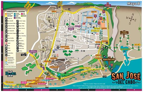 san jose del cabo hotels map of the city of san jose del cabo travel pinterest
