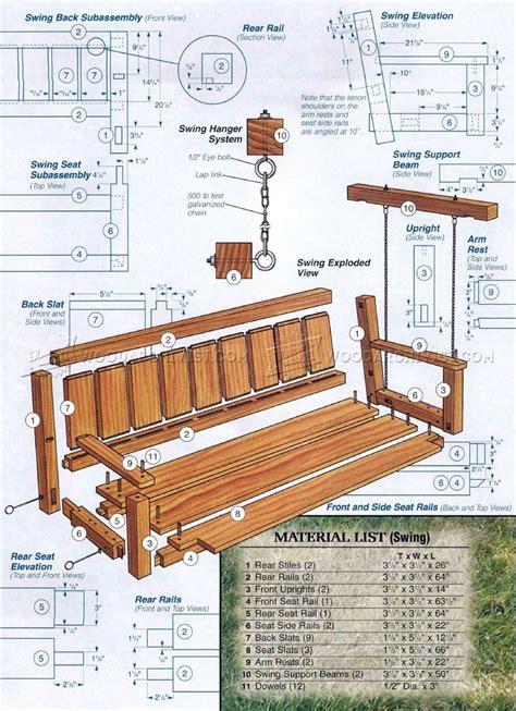 arbor swing plans free outdoor swing arbor plans image mag