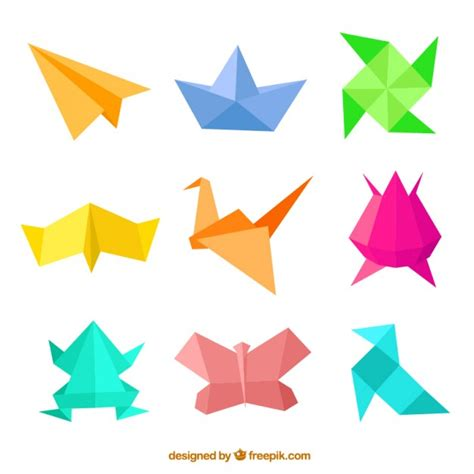 origamis for origami figures vector free