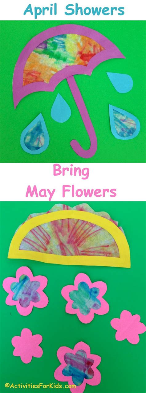 april crafts for april showers bring may flowers craft for