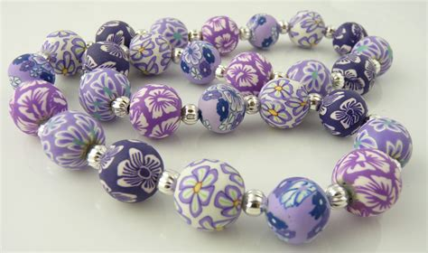 polymer clay for jewelry lavender 14mm polymer clay necklace snazzy