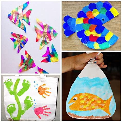 kid craft ornaments creative fish crafts for crafty morning