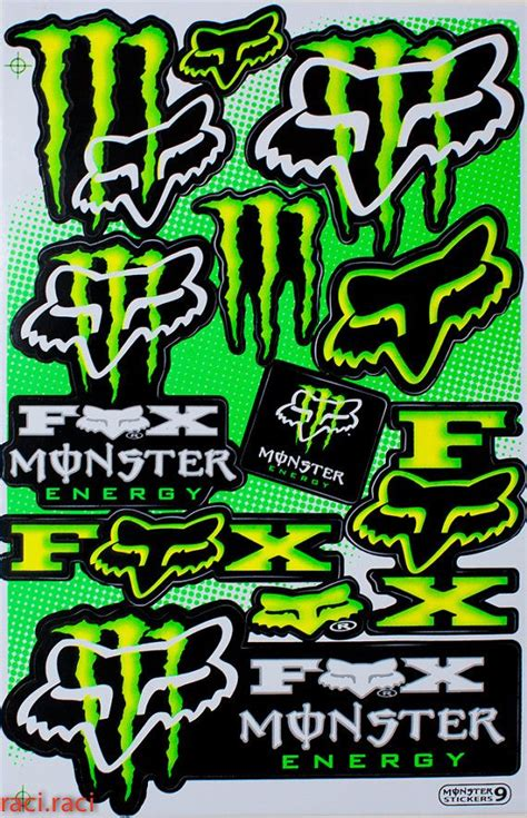 Monster Energy Sticker Truck by Green Monster Energy Claws Sticker Decal Supercross By