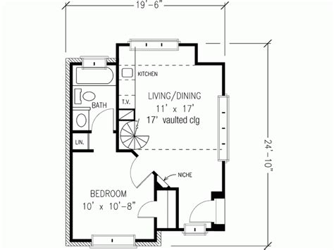 eplans english cottage house plan one bedroom english