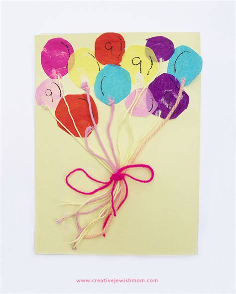 birthday card ideas for children to make bunch of balloons birthday card craft for creative