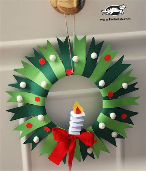 wreath craft for wreath and winter craft for