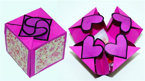 handmade paper craft gift ideas diy paper crafts idea gift box sealed with hearts a