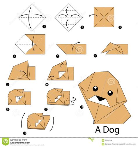 how to make paper animals origami step by step how to make origami stock