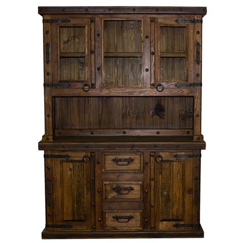 rustic china cabinet 2 rustic reclaimed china cabinet western real wood free s h lwr 48 dining ebay