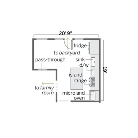 eat in kitchen floor plans floor plan before cook in a corner kitchen is a food hub made for time this house