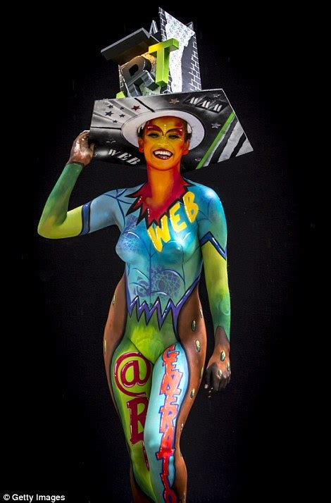 world bodypainting festival australia artists celebrate world bodypainting festival in