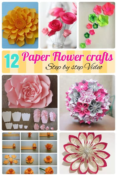 paper craft of flowers paper handicraft flower step by step www pixshark