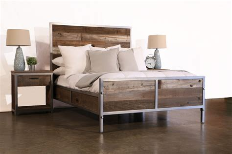 industrial bedroom furniture reclaimed wood industrial bedroom set by foundpurpose on etsy