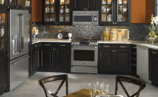 black and stainless steel appliances for kitchen decor