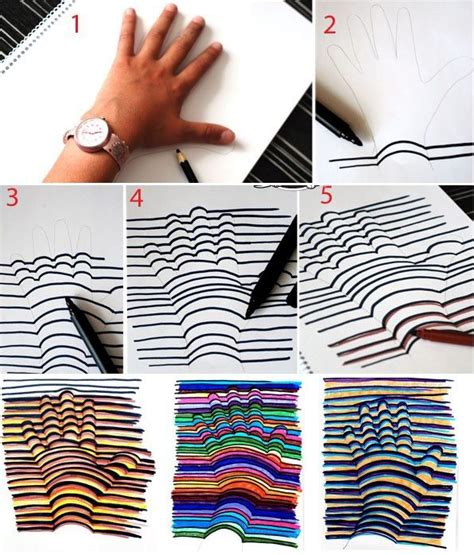 cool diy craft projects how to make 3d drawing