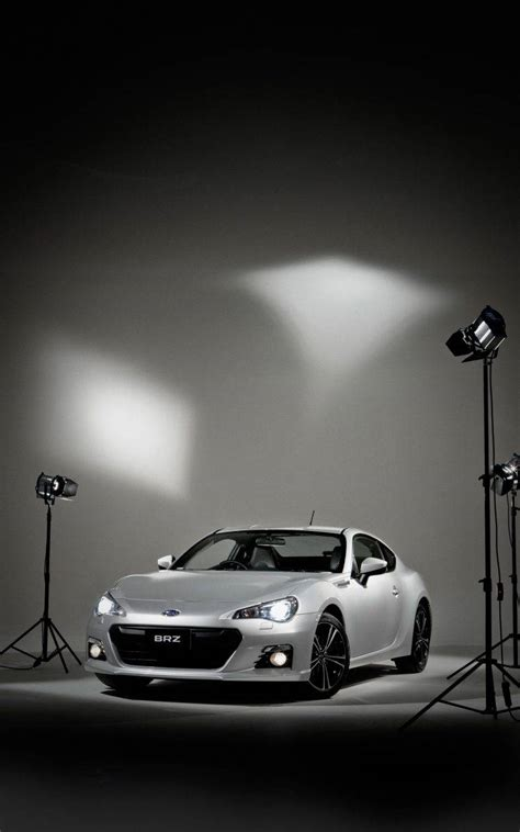 Car Wallpaper Portrait by Subaru Brz Vehicle Car Simple Background Spotlights