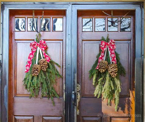 how to make a swag for front door easy front door swag for the holidays hearth vine