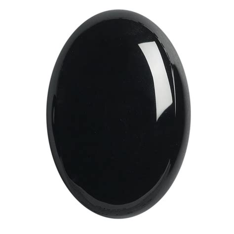 black onyx black onyx 25 x 18mm oval high dome cabochon