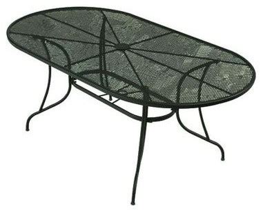 wrought iron patio dining table bji inc patio tables wrought iron green oval patio